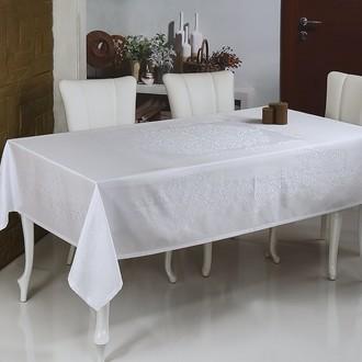 Скатерть прямоугольная Monalit LINEN лен белый
