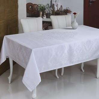 Скатерть прямоугольная Monalit BESTA жаккард тефлон белый