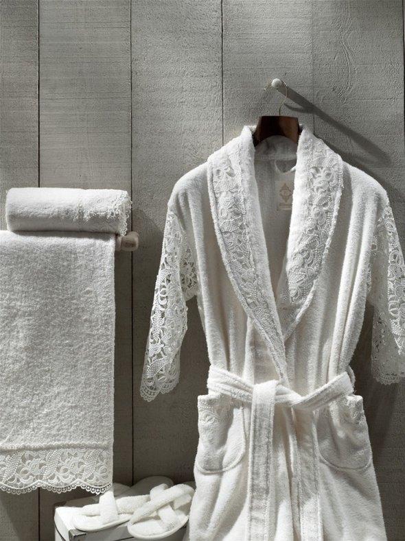 Набор из халата, полотенец, тапочек Altinbasak VERONIKA EXC махра бамбук L, фото, фотография