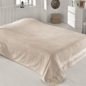 Махровая простынь-одеяло-покрывало Pupilla EFSUN махра бамбук кофейный