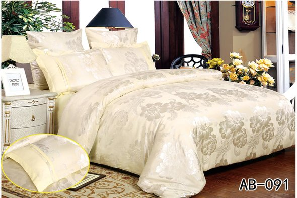 Комплект постельного белья Kingsilk ARLET AB-091 сатин-жаккард евро, фото, фотография