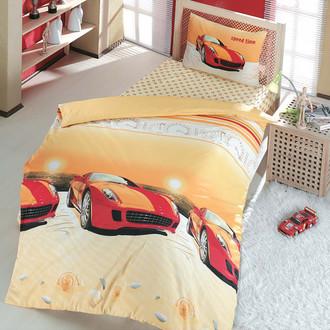 Комплект постельного белья подростковый Altinbasak SPEED TIME ранфорс хлопок красный