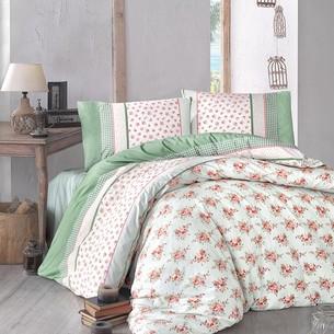 Постельное белье Altinbasak AHSEN ранфорс хлопок зелёный 1,5 спальный