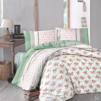 Комплект постельного белья Altinbasak AHSEN ранфорс хлопок зелёный