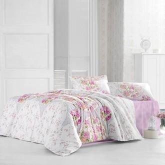 Комплект постельного белья Altinbasak DEREN ранфорс хлопок розовый