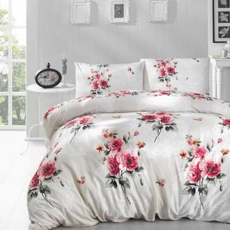 Комплект постельного белья Altinbasak ELA ранфорс хлопок кремовый