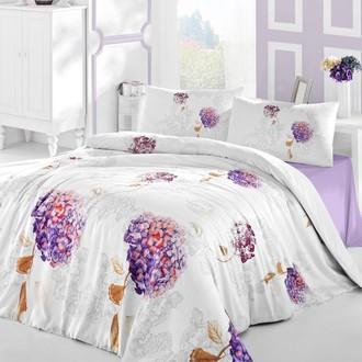 Комплект постельного белья Altinbasak HIDRA ранфорс хлопок фиолетовый
