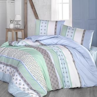 Комплект постельного белья Altinbasak JUSTO ранфорс хлопок голубой
