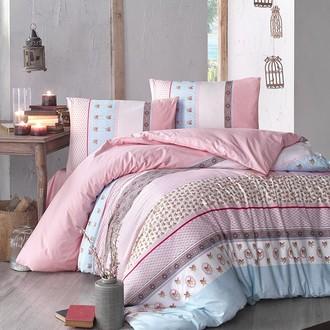 Постельное белье Altinbasak JUSTO ранфорс хлопок (розовый)