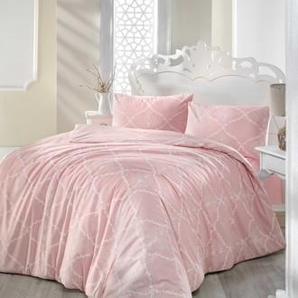 Комплект постельного белья Altinbasak LAMINA ранфорс хлопок розовый