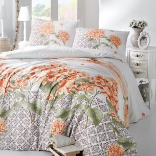 Постельное белье Altinbasak LARIN ранфорс хлопок оранжевый 1,5 спальный