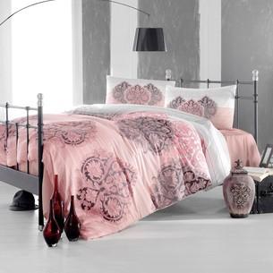Постельное белье Altinbasak LEYAN ранфорс хлопок фуксия 1,5 спальный