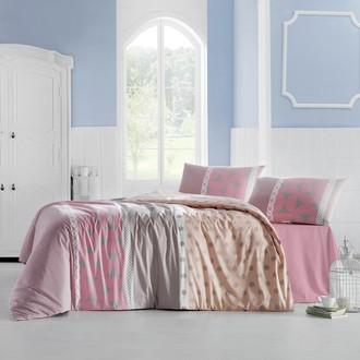 Комплект постельного белья Altinbasak ALEDA ранфорс хлопок розовый