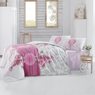 Комплект постельного белья Altinbasak ROSEN ранфорс хлопок розовый