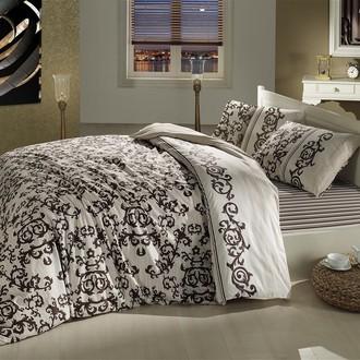 Комплект постельного белья Altinbasak SUAVE хлопковый ранфорс (коричневый)