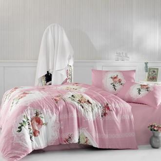 Комплект постельного белья Altinbasak ULYA ранфорс хлопок розовый