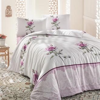 Постельное белье Altinbasak ALMILA ранфорс хлопок розовый