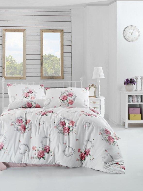 Комплект постельного белья Altinbasak ZAIRA ранфорс хлопок красный евро, фото, фотография