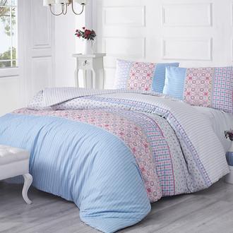 Комплект постельного белья Altinbasak ESPINELA ранфорс хлопок голубой