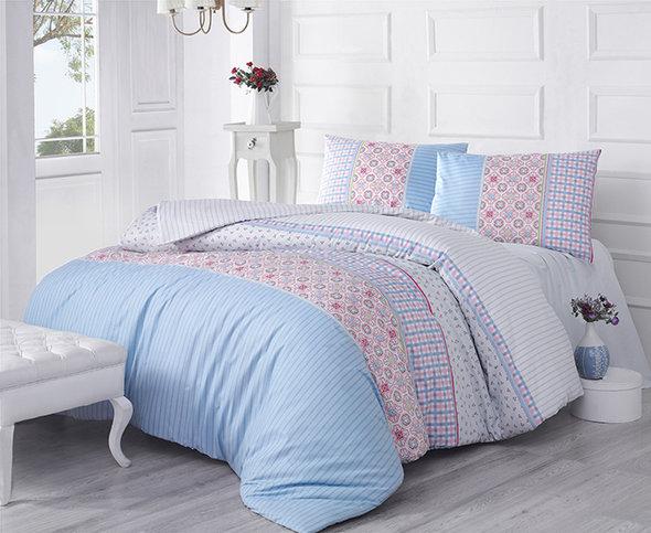 Комплект постельного белья Altinbasak ESPINELA ранфорс хлопок (голубой) 1,5 спальный, фото, фотография