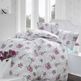 Комплект постельного белья Altinbasak ARNES ранфорс хлопок розовый