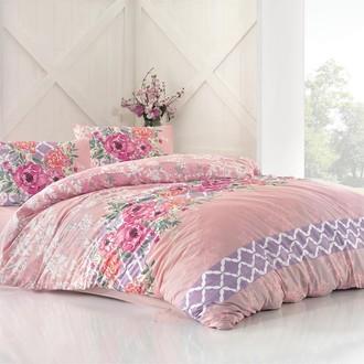 Комплект постельного белья Altinbasak ASEL ранфорс хлопок розовый