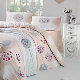 Комплект постельного белья Altinbasak BELIN ранфорс хлопок кремовый