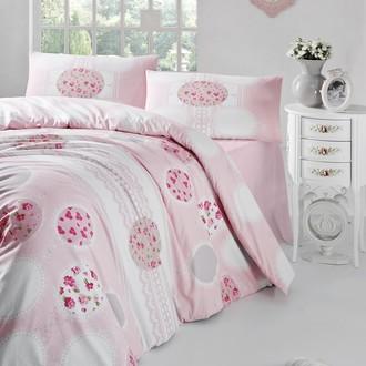 Комплект постельного белья Altinbasak BELIN ранфорс хлопок розовый