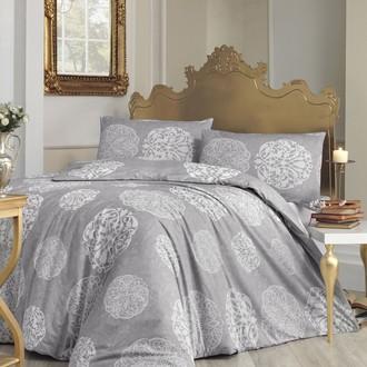 Комплект постельного белья Altinbasak BELLO ранфорс хлопок серый