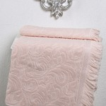 Полотенце для ванной Karna ESRA хлопковая махра абрикосовый 50х90, фото, фотография