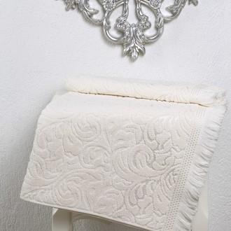 Полотенце для ванной Karna ESRA хлопковая махра (кремовый)