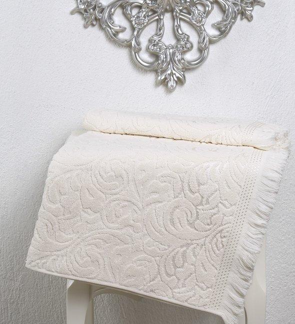 Полотенце для ванной Karna ESRA хлопковая махра кремовый 70х140, фото, фотография