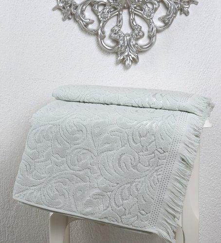 Полотенце для ванной Karna ESRA хлопковая махра светло-зелёный 90х150, фото, фотография