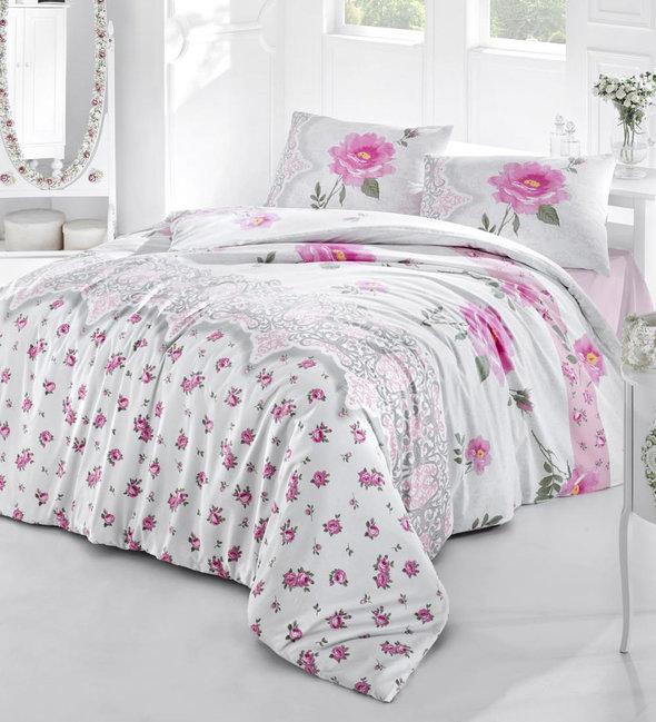 Комплект постельного белья Altinbasak AHU ранфорс хлопок евро, фото, фотография