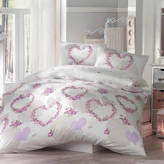 Комплект постельного белья Altinbasak HUMA ранфорс хлопок голубой