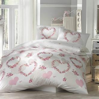 Комплект постельного белья Altinbasak HUMA ранфорс хлопок розовый
