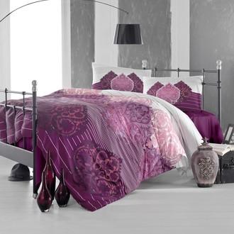 Комплект постельного белья Altinbasak LEYAN ранфорс хлопок бордовый