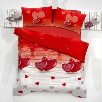 Комплект постельного белья Altinbasak LOVELY ранфорс хлопок красный