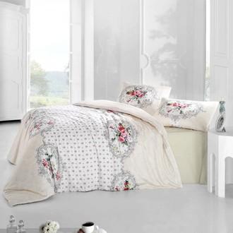 Комплект постельного белья Altinbasak MIRA ранфорс хлопок кремовый