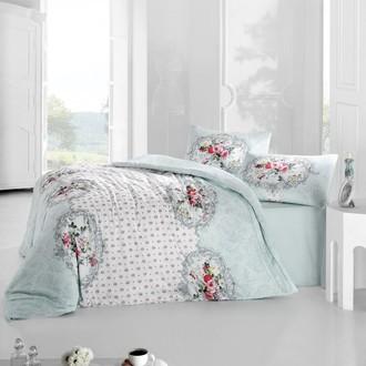 Комплект постельного белья Altinbasak MIRA ранфорс хлопок голубой