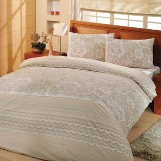 Комплект постельного белья Altinbasak NATURA ранфорс хлопок кремовый