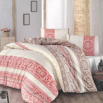 Комплект постельного белья Altinbasak MONICA ранфорс хлопок бордовый