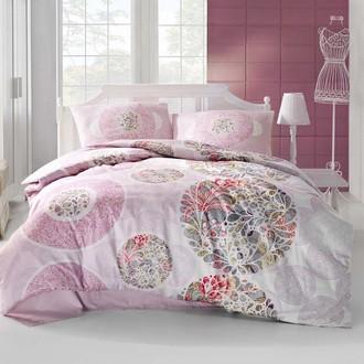 Комплект постельного белья Altinbasak IZEM ранфорс хлопок розовый
