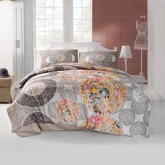 Комплект постельного белья Altinbasak IZEM ранфорс хлопок коричневый