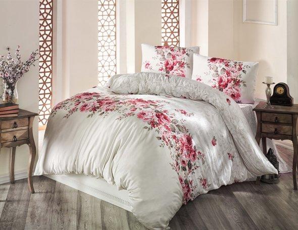 Комплект постельного белья Altinbasak BELISSA ранфорс хлопок (бежевый) евро, фото, фотография