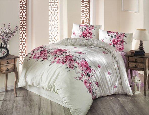 Комплект постельного белья Altinbasak BELISSA ранфорс хлопок кремовый евро, фото, фотография
