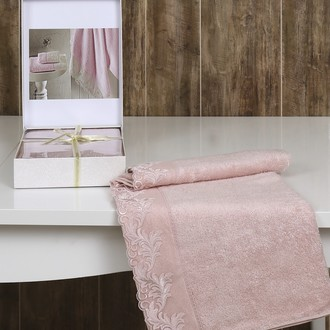 Полотенце Altinbasak EXCELLENT KLEOPATRA махра бамбук коробка (розовый)