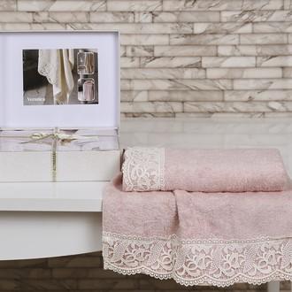Полотенце Altinbasak EXCELLENT VERONIKA махра бамбук 50*90 70*140 коробка (розовый)