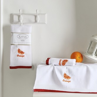 Набор полотенец Karna ANDES вафля хлопок (V1)