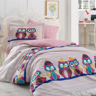 Комплект постельного белья Hobby LINDA поплин хлопок (лиловый)